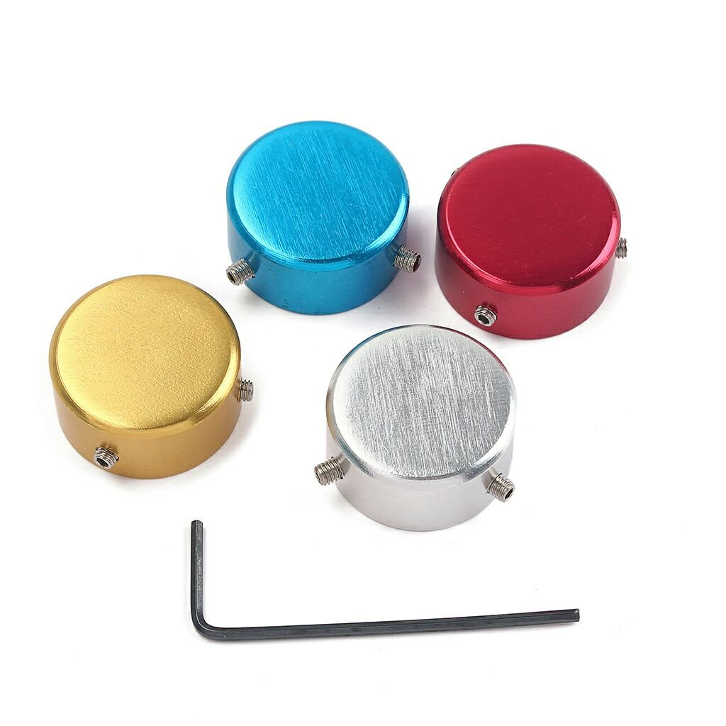 4pcs Colorful Guitar Effect Foot Nail Cap Protection Cap for Guitar Pedal Effect sunflower A001