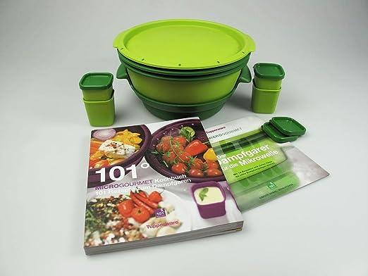 Tupperware Microondas Micro Gourmet verde, moldes (4), libro de ...
