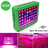 Derlights 300W Double Chips LED Grow Lights With 3 Patterns, Full Spectrum Plant Growing Lamps for Indoor Plants Veg Greenhouse Hydroponic and Flowers, Includes Hanging Chain Kit For Sale