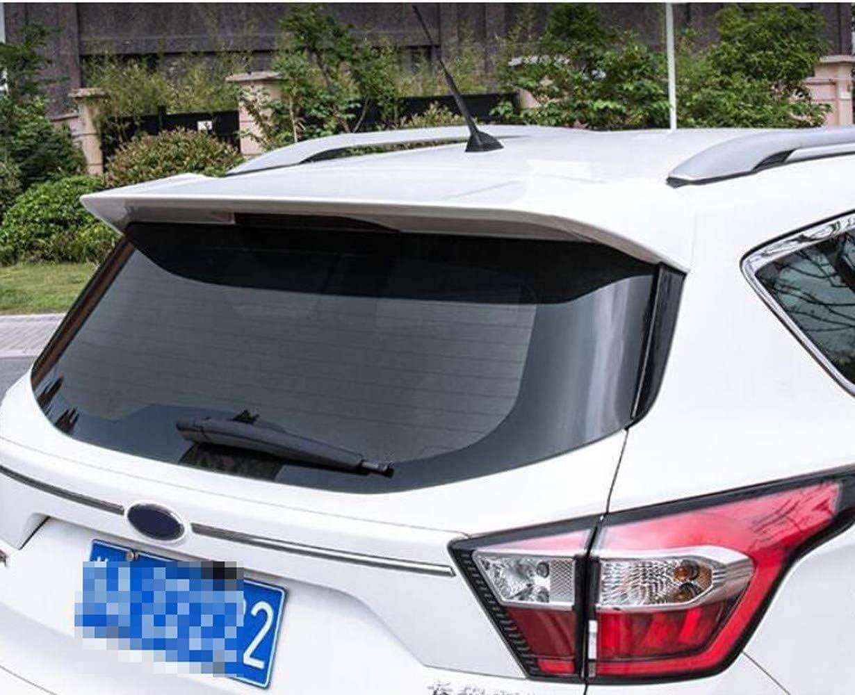 Negro Spoiler De Labio con Tapa del Maletero Trasero para Ford Escape Kuga 2018 2019 Abs Spoiler Trasero ala Blanco Negro KQBAM Spoiler Trasero