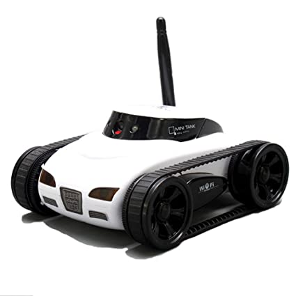 A Parts New Mini Rc I Spy Tank Car Video Camera 777 270 Wifi Remote Control By Iphone Android White 0 3mp Photo Rc Car White