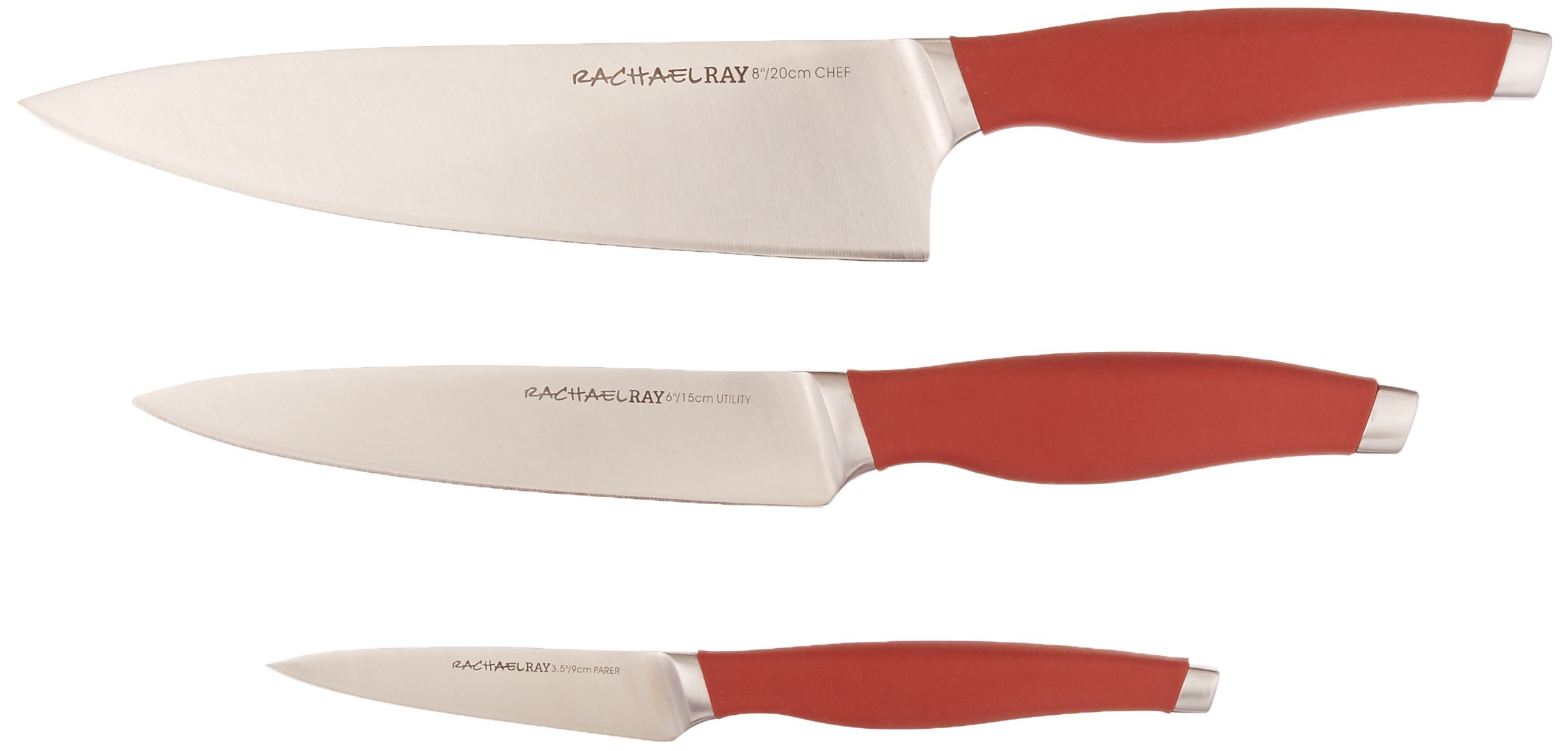 Rachael Ray Cucina 3-Piece Japanese Stainless Steel Chef Knife Set