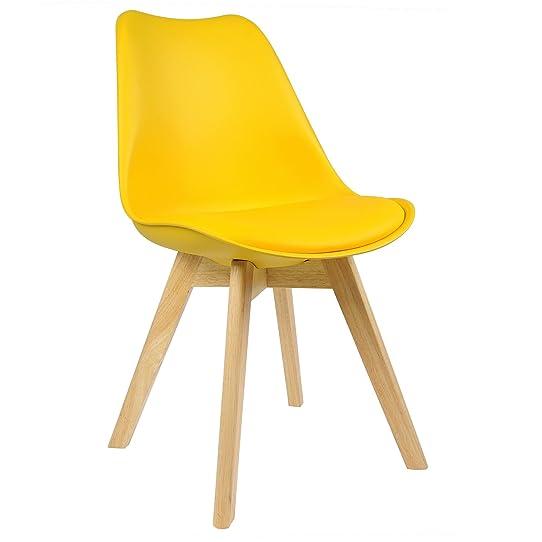WOLTU 1 X Chaise salle à manger Chaise de cuisine en similicuir + ...