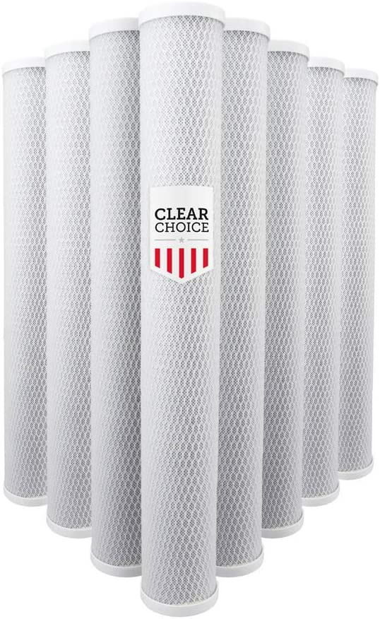 8-Pk HPEV910825 Clear Choice Sediment Water Filter 5 Micron 20 x 2.50 Water Filter Cartridge Replacement 20 inch RO System 155635-43