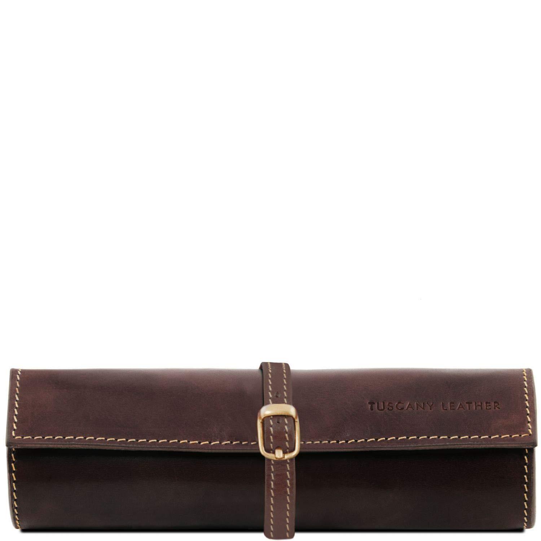 Tuscany Leather Exklusive Schmuckrolle aus Leder Braun 1621_1_1