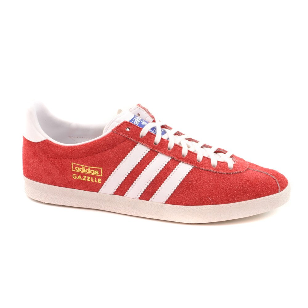 adidas Gazelle OG Red Suede Rare Retro Trainers-Red-8  Amazon.co.uk  Shoes    Bags 6c54c53a58