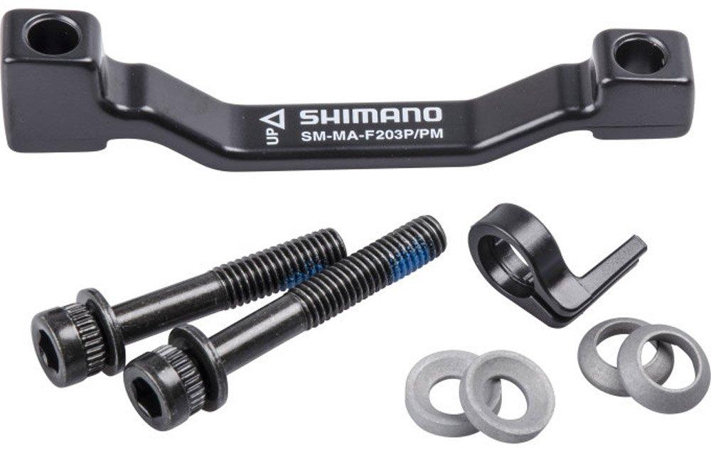 Shimano Adapt. Juego F.disc-Brake SM-MA-F203p/PM con tornillos, stop anillo