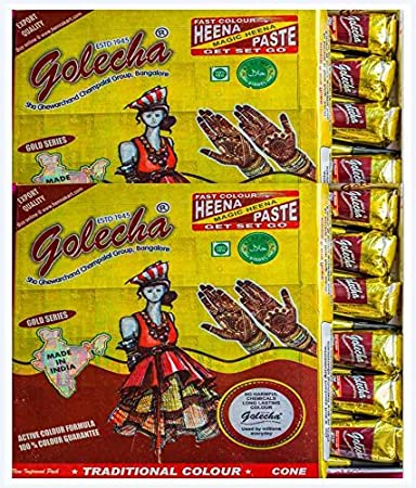 Buy Golecha Fast Henna Cones 24 Pcs Online At Low Prices In India