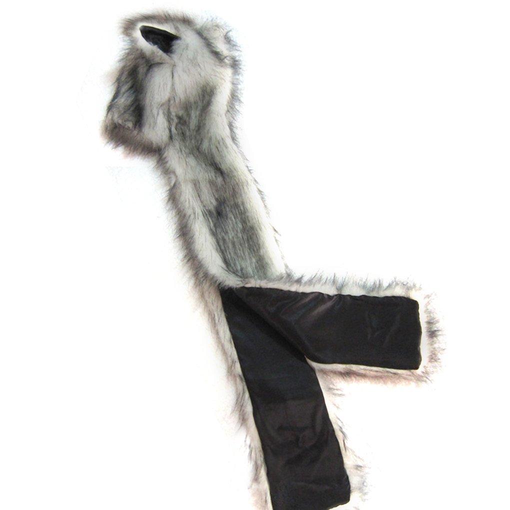 af30604e683 Chapeau Unisex Automne Hiver Bonnet-Echarpe-Gants Chaud Thermique en Fausse  Fourrure Hat Animal Mignon Long Cap Dames Sports de plein air ...