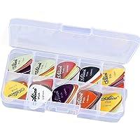Magideal 24pcs Plastic Guitar Picks Plectrums w/ Various 6 Thickness + Pick Box