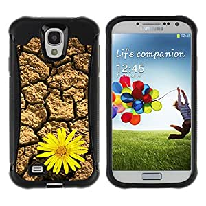 Pulsar Defender Series Tpu silicona Carcasa Funda Case para SAMSUNG Galaxy S4 IV / i9500 / i9515 / i9505G / SGH-i337 , Life tenacious flowers Desert Sunflower
