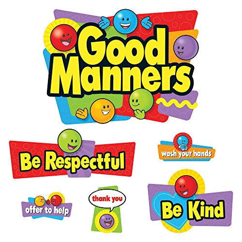 - Trend Enterprises Good Manners Bulletin Board Set (26 Piece)