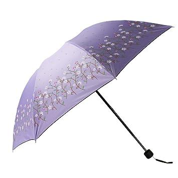 DCRYWRX Sombrilla De Protección Solar Windproof Travel UV Umbrella ...