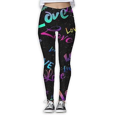 Starry Sky Love Women's Yoga Pants Capri Legging Workout Gym Tights