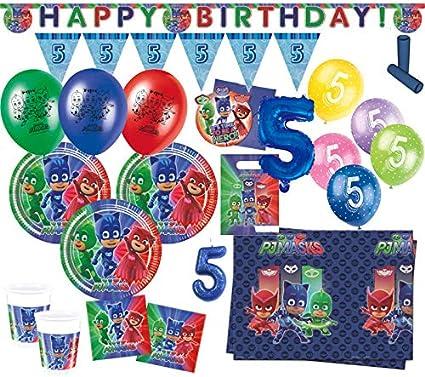 XXL 71 Piezas PJ Masks Pijama Héroes para 5 cumpleaños Party ...