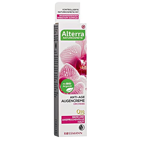 Alterra anti-age Ojo Crema orquídea 15 ml para piel & exigentes, con arganöl