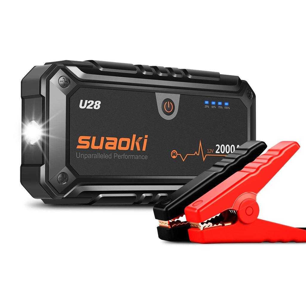 Suaoki U Arrancador de Coche A Jump Starter para Emergencias Linterna LED