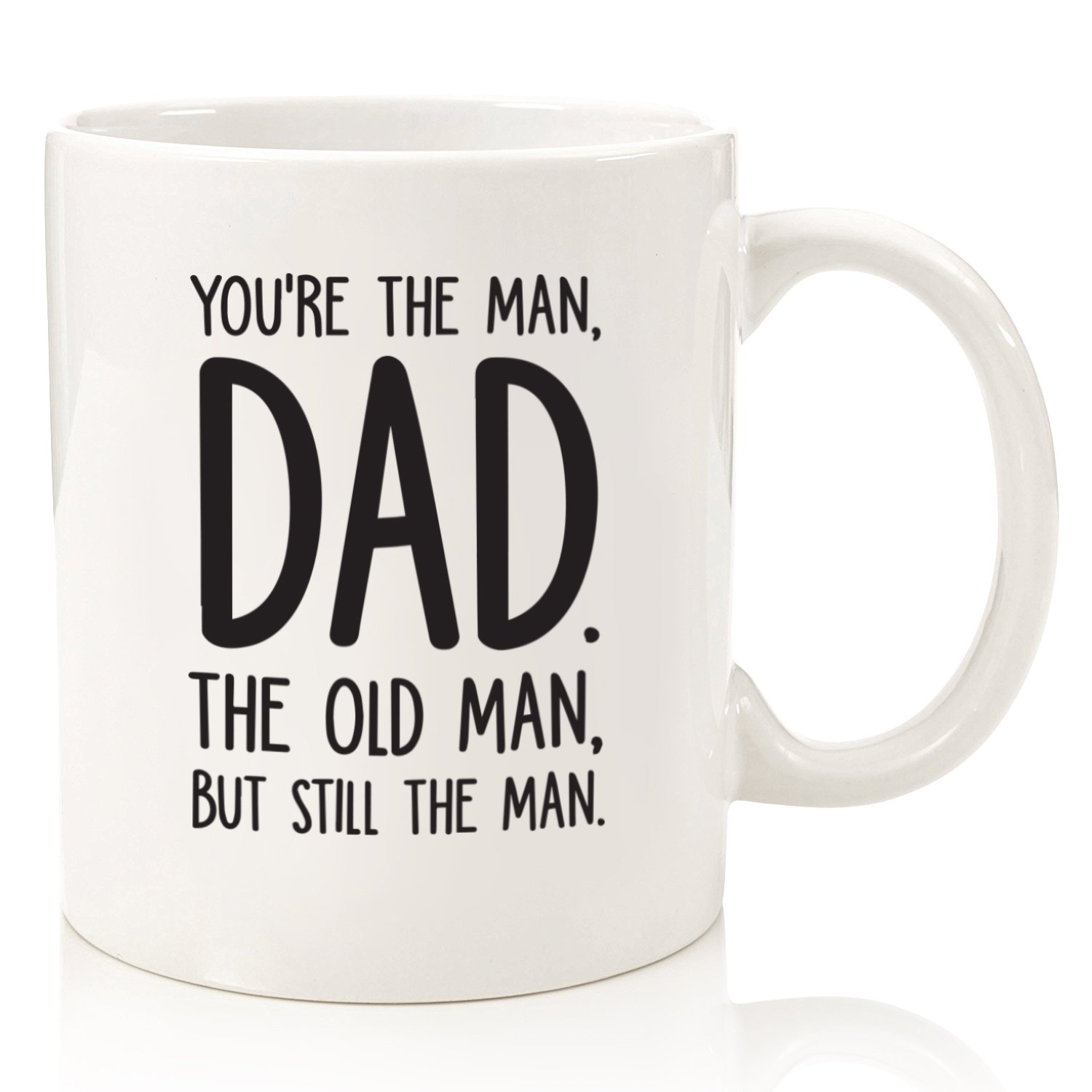 The Man/The Old Man Funny Dad Mug - Best Dad Fathers Day Gifts - Unique Gag Gift For Him From Daughter, Son, Wife - Cool Birthday Present Idea For a Father, Men, Guys - Fun Novelty Coffee Cup