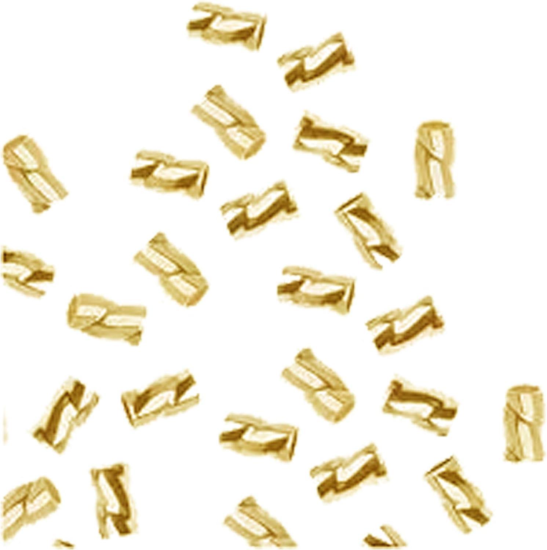 18K Gold Overlay Crimp Bead CRG-103-3X2MM