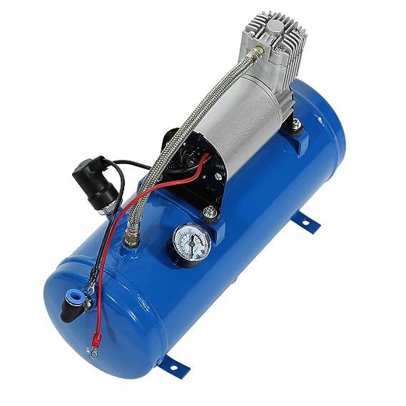 Yosoo 150psi 12V Compresor de Aire Portátil con Bomba de Inflado de Neumático de Tanque de 6 Litros para Corneta de Aire Tren Camión RV Neumático: ...