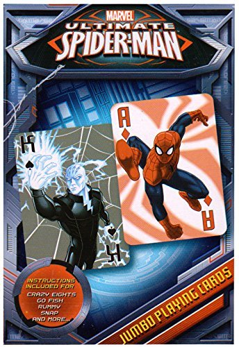 Spider Man Jumbo Web - Ultimate Spiderman Jumbo Playing Cards - Spiderman Card Deck by Cardinal