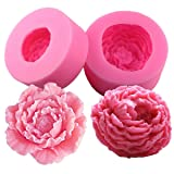 Fewo 3D Peony Flower Silicone Soap Molds Candle