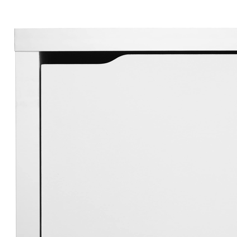Amazon.com: Baxton Studio Simms 3 Tier Modern Shoe Cabinet, White: Kitchen  U0026 Dining