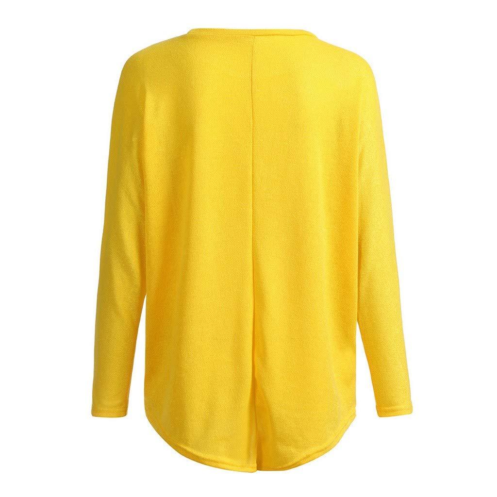 MORCHAN Casual Batwing Manches Longues Chemise Off Femmes /épaule Elk Imprimer Baggy Hauts T-Shirt