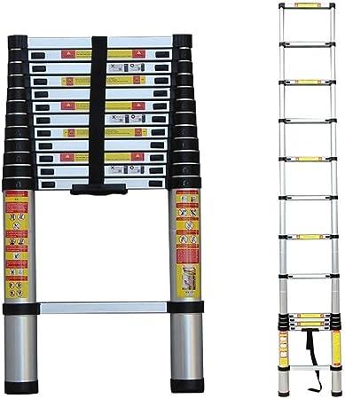 Escalera telescópica 1.4m/2m/2.6m/2.9m/3.2m/3.8m/4.1m/4.4m/4.6m/5.0m/5.4m/5.8m/6.2m, Escaleras de extensión de Aluminio para Las Actividades al Aire Libre del hogar RV del tejado: Amazon.es: Hogar