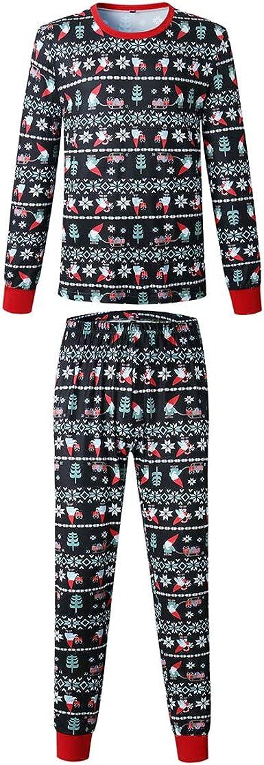 Mujeres Hombres Niños Navidad Familia Pijamas Conjuntos de Navidad Encantador Copo de Nieve y Santa Impreso Ropa de Dormir Ropa de Hogar Ropa de ...