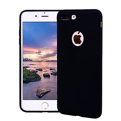Funda iPhone 7 Plus, Carcasa iPhone 7 Plus Silicona Gel, OUJD Mate Case Ultra Delgado TPU Goma Flexible Cover para iPhone 7 Plus - Negro
