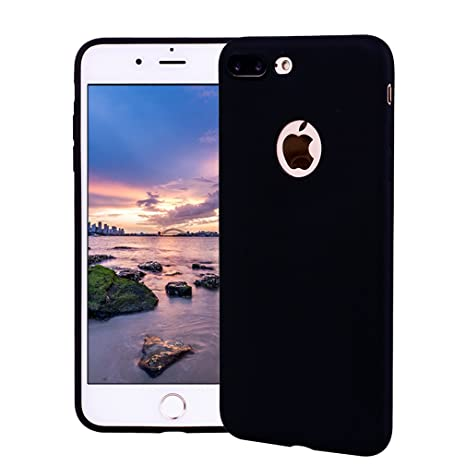 Funda iPhone 7 Plus, Carcasa iPhone 7 Plus Silicona Gel, OUJD Mate Case Ultra Delgado TPU Goma Flexible Cover para iPhone 7 Plus - Negro