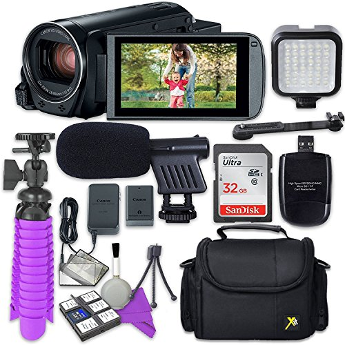 Canon VIXIA HF R82 Camcorder with Sandisk 32 GB SD Memory Card + Video Accessory Bundle by Canon