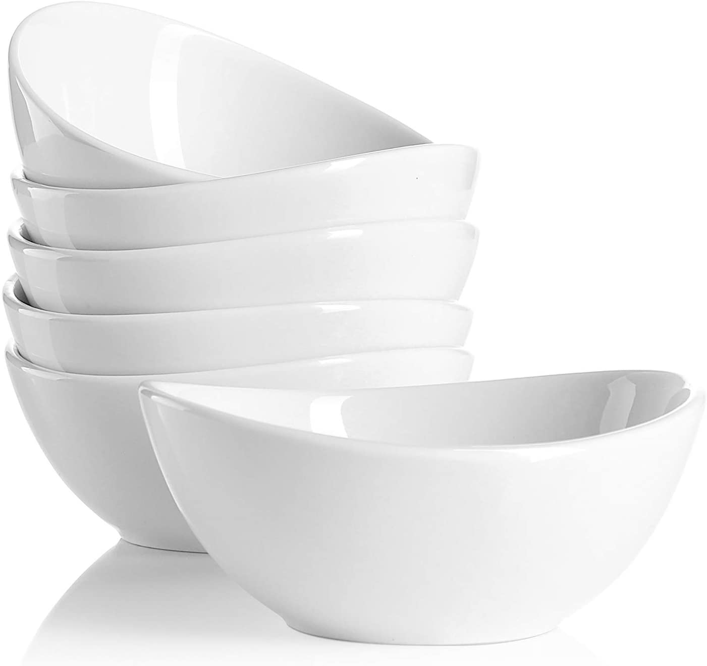 Sweese 101 001 Porcelain Bowls 10 Ounce For Ice Cream Dessert Small Side Dishes Set Of 6 White Kitchen Dining