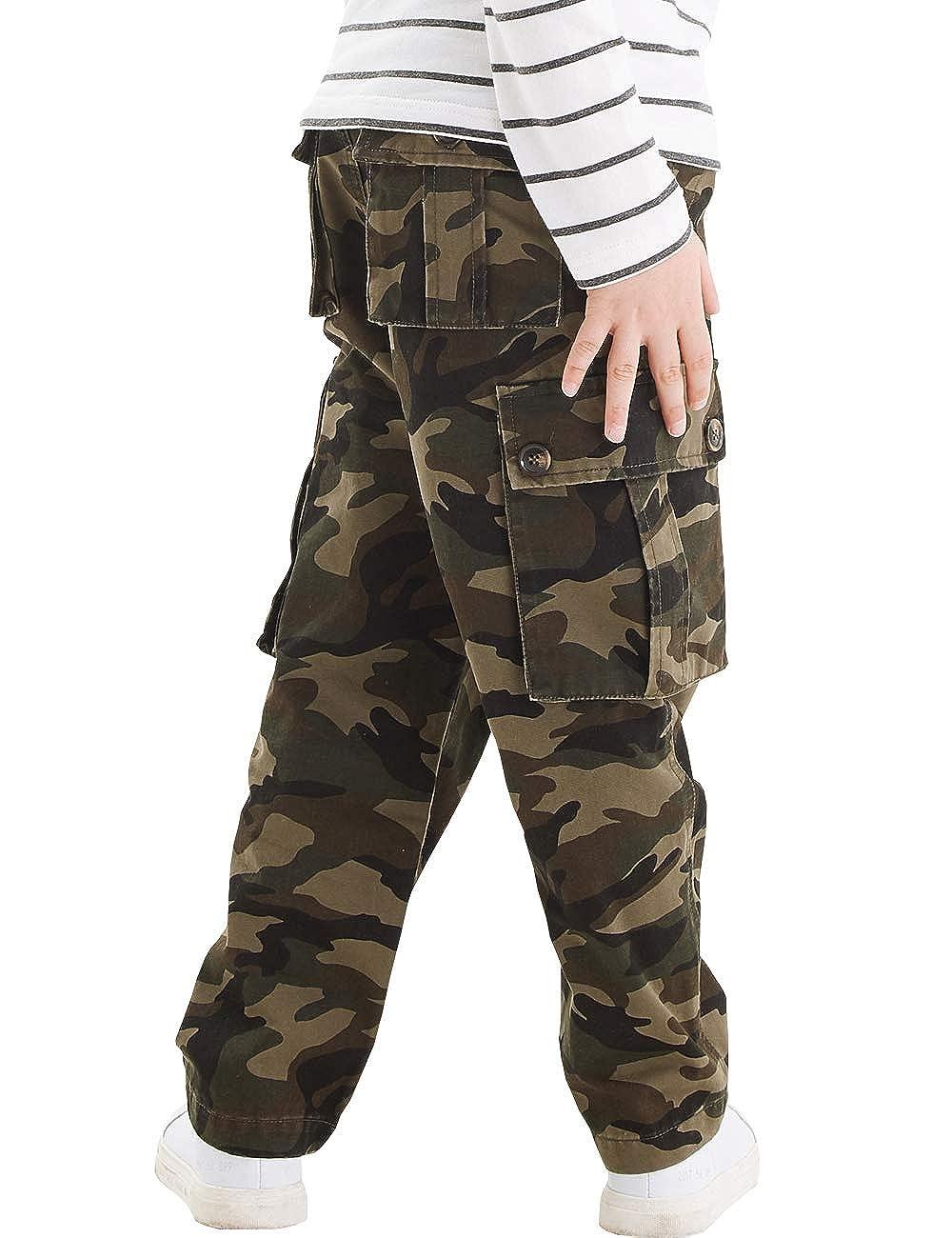 51801b6800 Amazon.com: BYCR Boys' Skinny Cargo Jogging Pants Cotton Regular Straight Stretch  Trousers: Clothing