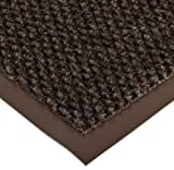 Notrax 136 Polynib Entrance Mat, for Lobbies and Indoor Entranceways, 3' Width x 5' Length x 1/4'' Thickness, Brown
