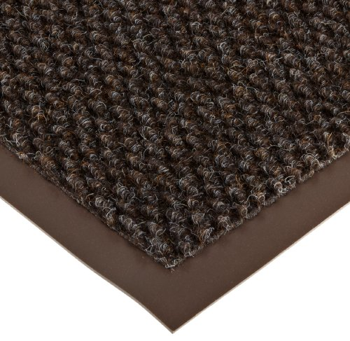 Notrax 136 Polynib Entrance Mat, for Lobbies and Indoor Entranceways, 3' Width x 5' Length x 1/4'' Thickness, Brown by NoTrax Floor Matting (Image #1)