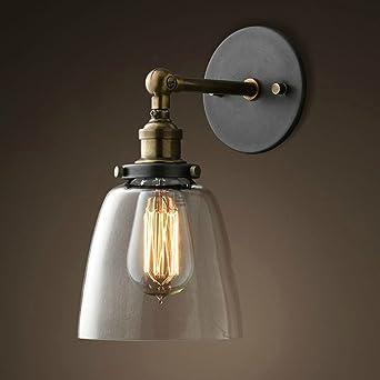 Lixada Lámparas Apliques de Pared Luces Clásicas Iluminación Vendimia Retro Rústico para E27 Bombilla Escalera Dormitorio Espejo Hotel: Amazon.es: Iluminación