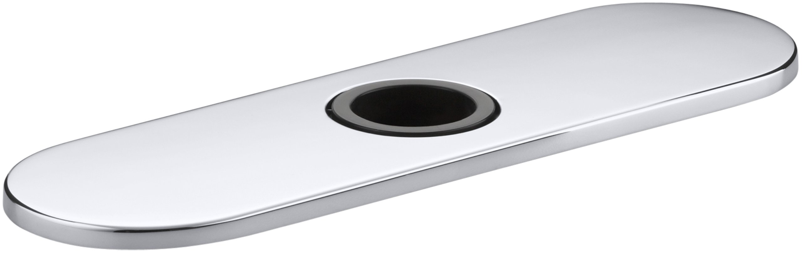 Kohler K-13479-A-CP Optional 8'' Escutcheon Round Plate for Insight Faucet, Polished Chrome
