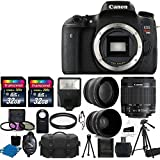 Canon EOS Rebel T6s DSLR CMOS Digital SLR Camera and DIGIC Imaging with EF-S 18-55mm f/3.5-5.6 IS STM Lens + 58mm 2x Professional Lens +High Definition 58mm Wide Angle Lens + Auto Flash + 57 Strong lightweight Tripod + Camera Case + UV Filter Kit With 64GB Complete Deluxe Accessory Bundle