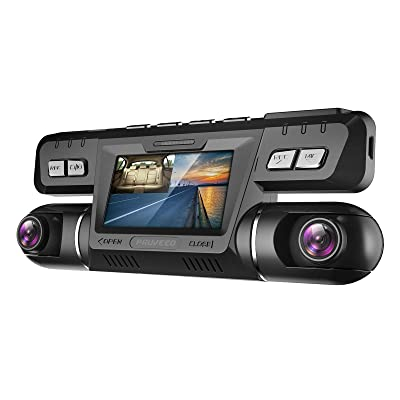Pruveeo B80 Dash Cam with WiFi, Dual 1080P Front and Inside, Dash Camera for Cars Uber Lyft Truck Taxi: Car Electronics