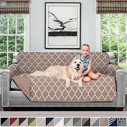 Sofa Shield Original Patent Pending Reversible Sofa Slipcover, Dogs, 2