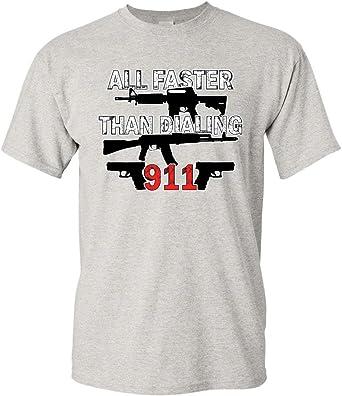 American Flag Guns Rifles Bullets Second Amendment Bear Arms USA Men/'s T-Shirt