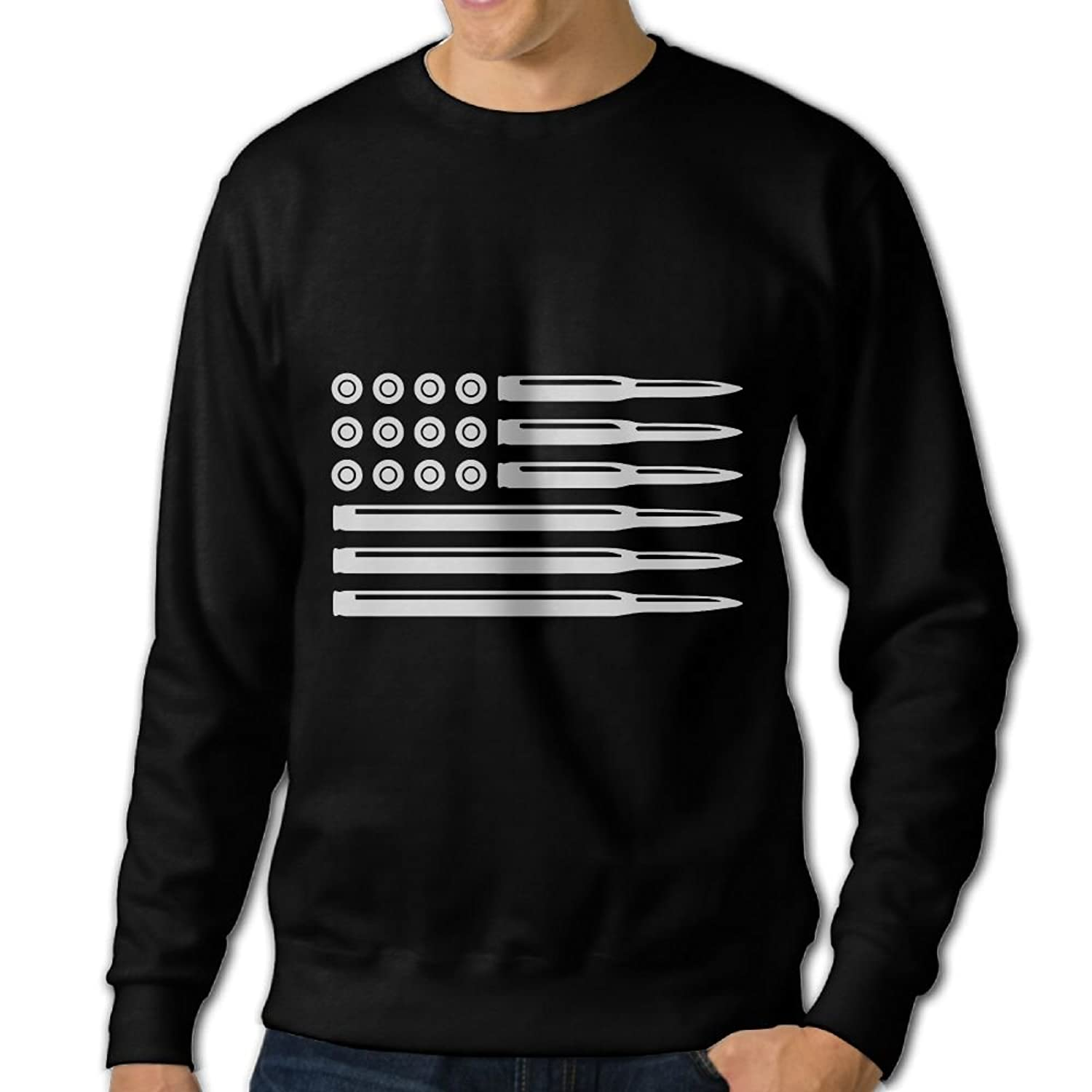 Bullet American Flag Round Collar Hooded Sweatshirt Hoodie For My Valentine Graphic Sports Mens Clothing