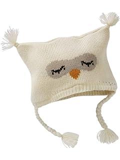 a10ff2e9fc56 VERTBAUDET Ensemble bonnet + moufles + tour de cou chouette bébé fille  IVOIRE 12 18M