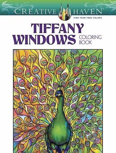 Creative Haven Magnificent Tiffany Windows Coloring Book (Creative Haven Coloring -