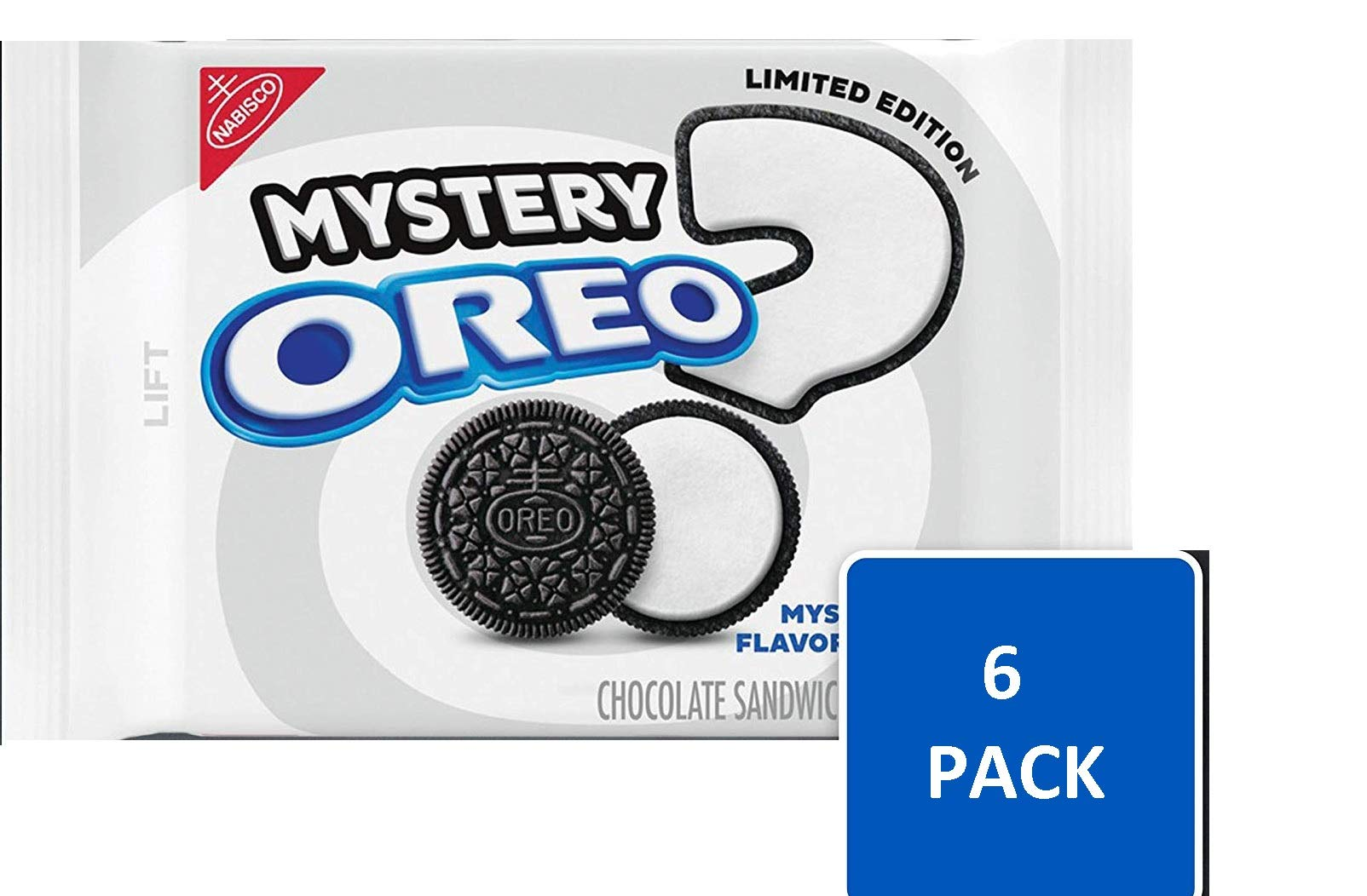 Oreo Cookies Chocolate Mystery Flavor Creme Limited Edition Sandwich Cookies (73.2 Oz - 6 Bags) by Oreo