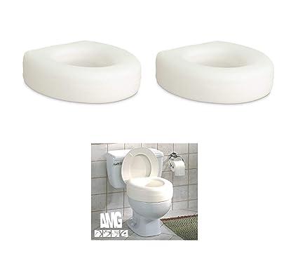 Phenomenal Aquasense Portable Raised Toilet Seat White 4 Inches 2 Theyellowbook Wood Chair Design Ideas Theyellowbookinfo