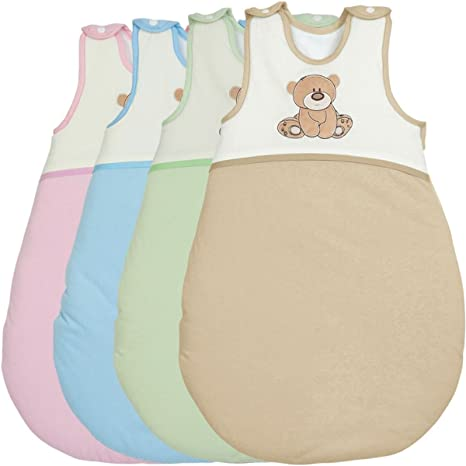 Saco de dormir/saco de dormir de verano (100% algodón) parte oso