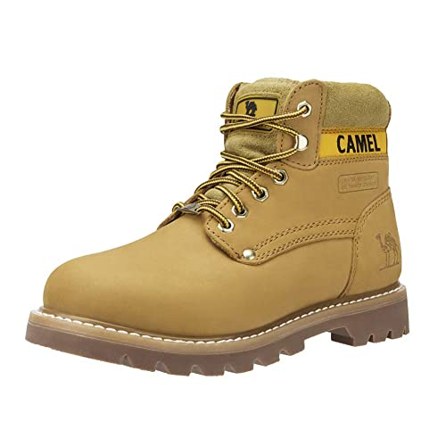CAMEL CROWN 6 In Premium Waterproof Botas Cortas para Mujer Clásicas Botas de Combate Winter Soft Toe Work Boots: Amazon.es: Zapatos y complementos
